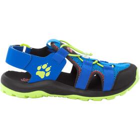 Jack Wolfskin Outdoor Action Sandals Kids, blauw/geel